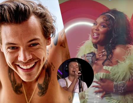 "Harry Styles faz cover de ""Juice"" da Lizzo, no ""Live Lounge"", da BBC Radio 1"