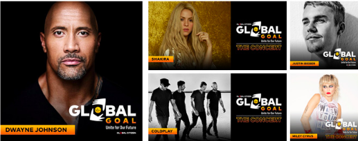 MTV anuncia transmissão do Global Goal: Unite For Our Future – The Concert