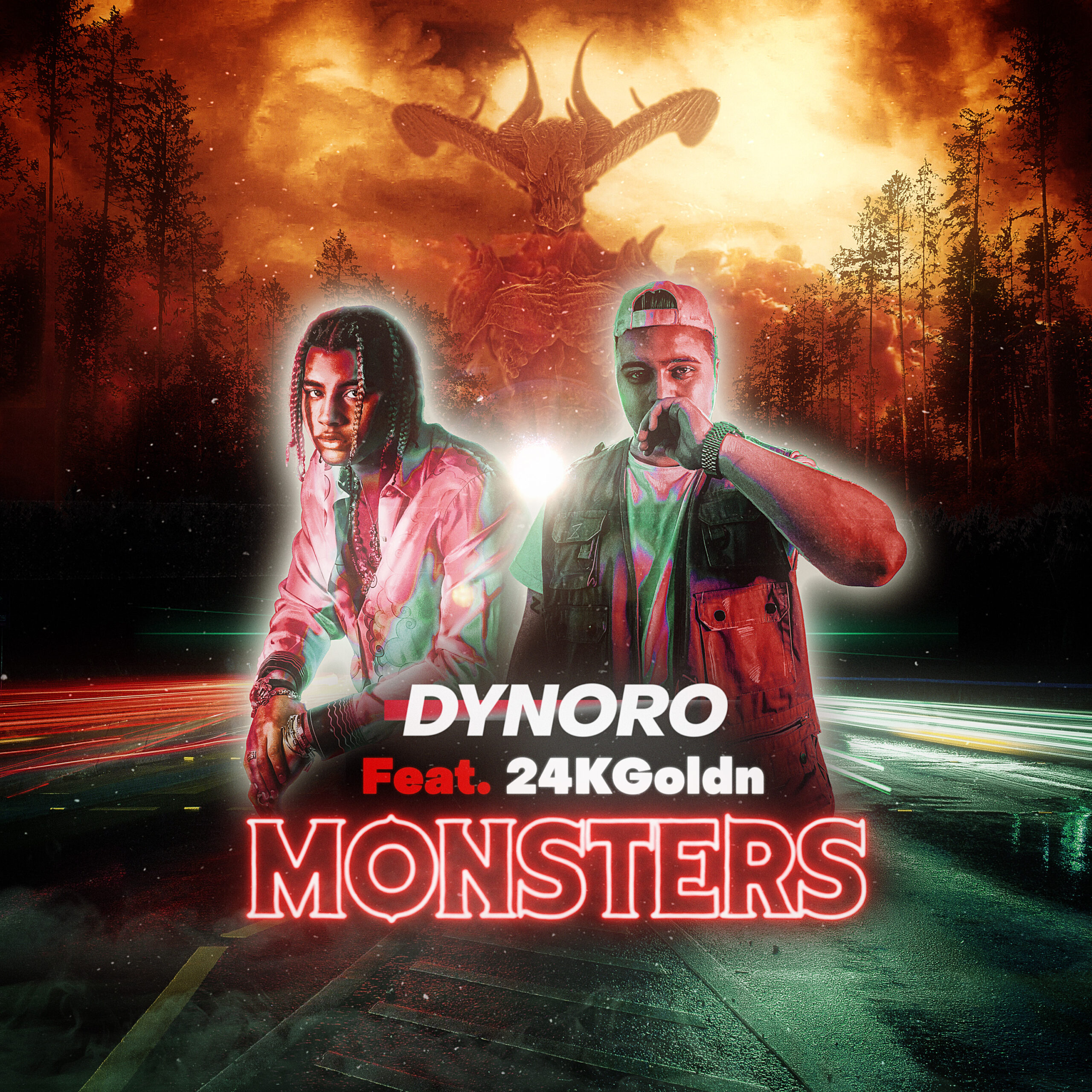 DYNORO Feat 24KGoldn MONSTERS COVER scaled